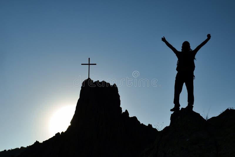 Luta, perseverança e sucesso fotografia de stock royalty free