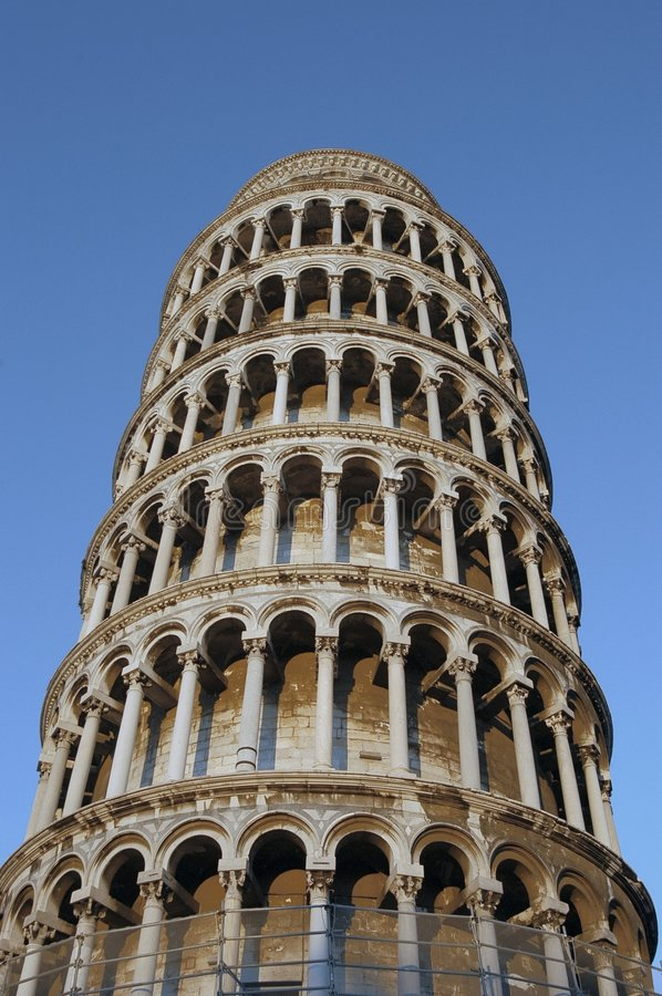 Luta Pisa Torn Royaltyfri Bild