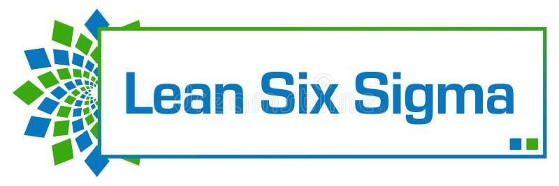 Luta sex gröna blåa runda ask för Sigma royaltyfri illustrationer