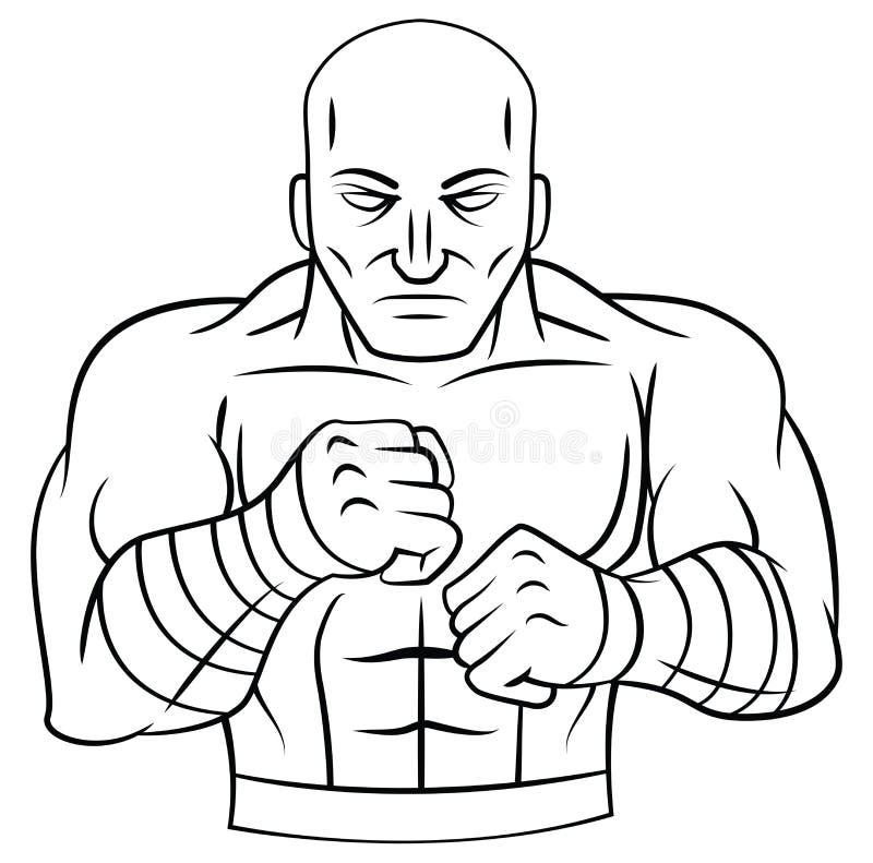 lutador ilustração royalty free