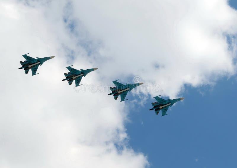 Lutador-bombardeiros Multirole Su-34 fotografia de stock royalty free