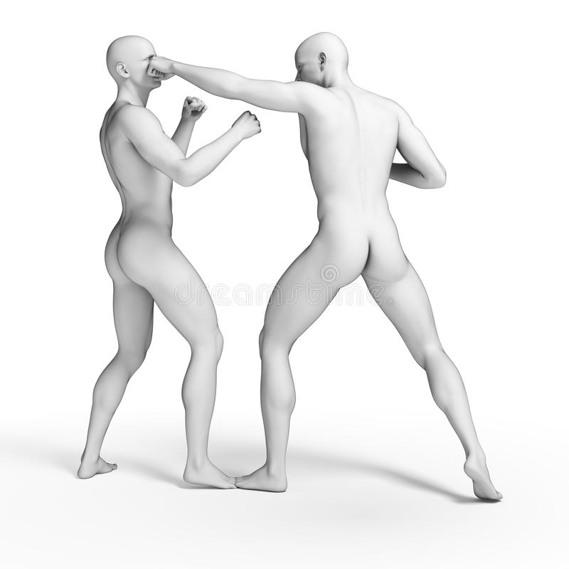 lutador branco ilustração do vetor