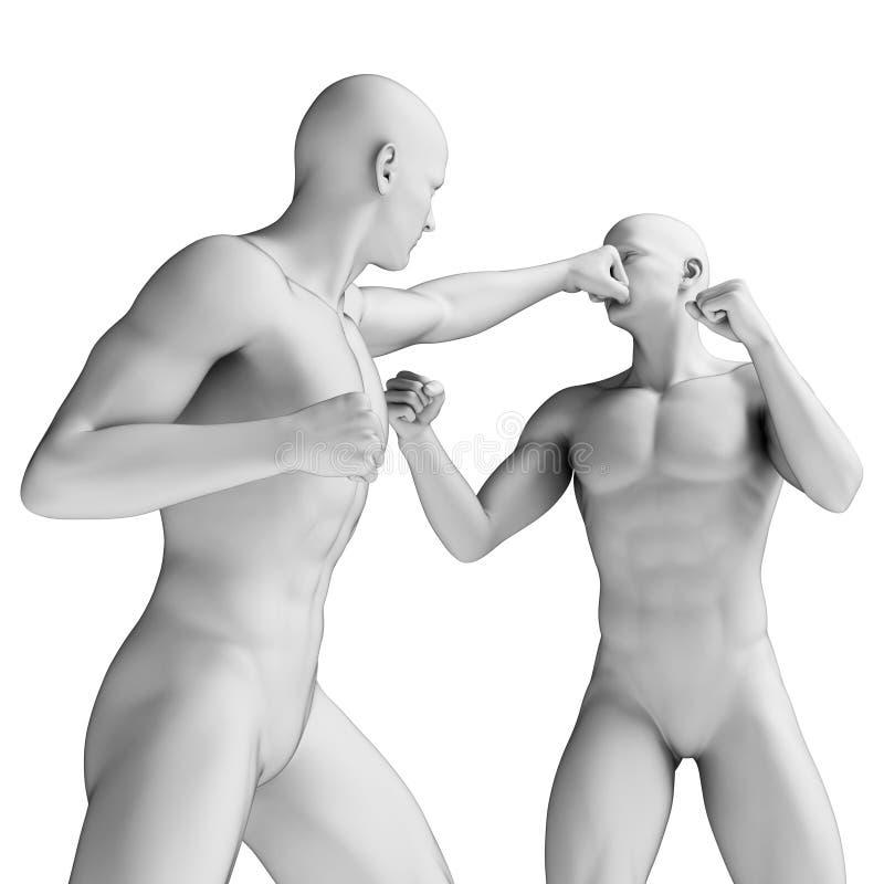Lutador branco ilustração stock