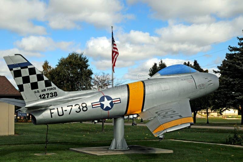 Lutador da força aérea de F86 Sabrejet foto de stock royalty free