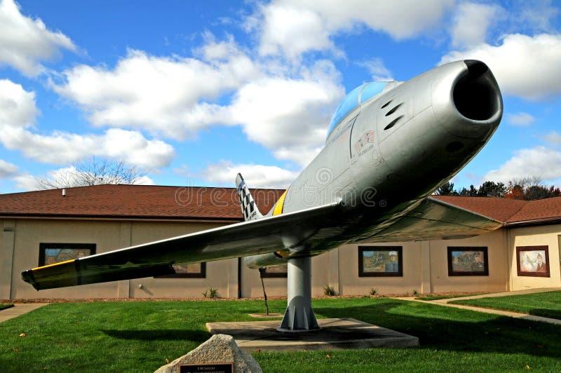 Lutador da força aérea de F86 Sabrejet imagens de stock