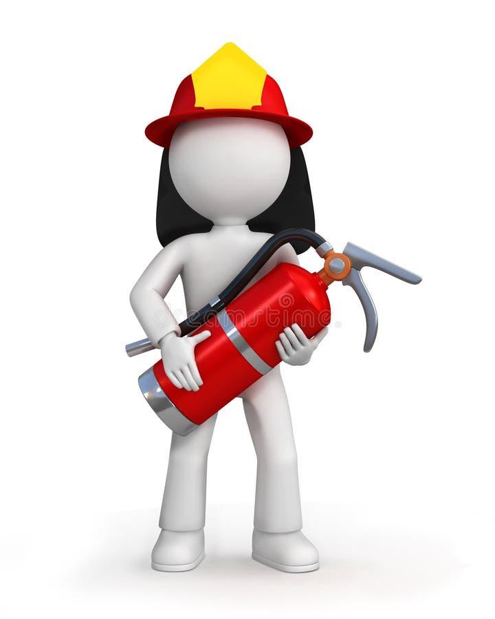 Lutador de incêndio dos desenhos animados ilustração royalty free