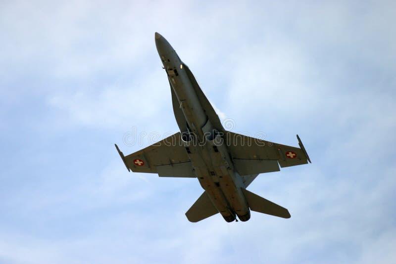 Lutador de jato do zangão F 18 de McDonnell Douglas F/A-18 imagem de stock royalty free