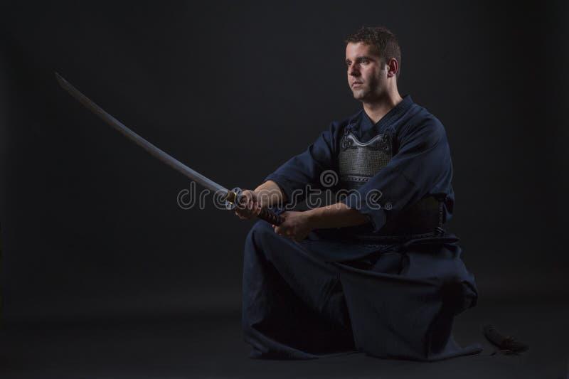 Lutador de Kendo fotografia de stock royalty free