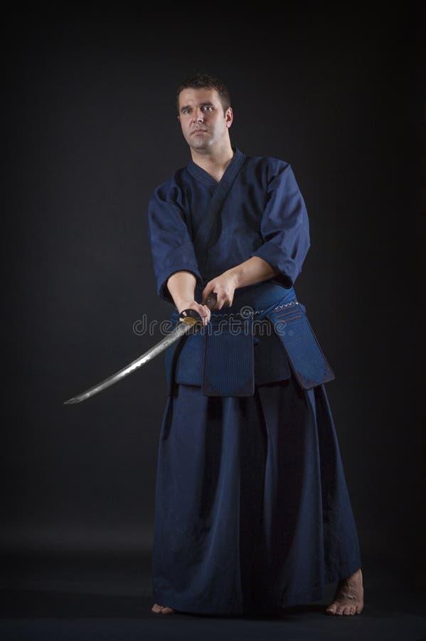 Lutador de Kendo fotografia de stock