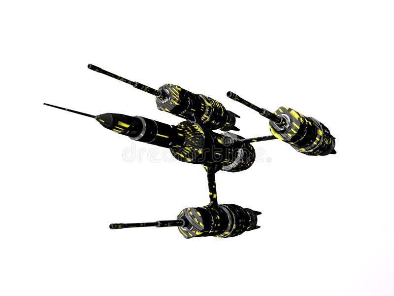 Lutador de Starship ilustração do vetor