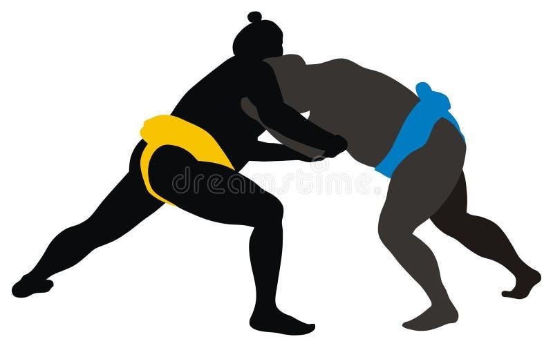 Lutador de Sumo ilustração do vetor