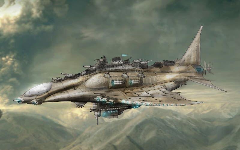 Lutador de terceira geração do bombardeiro ilustração royalty free