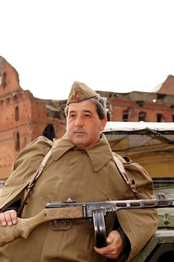 Lutador do grupo do assalto de Stalingrad imagem de stock