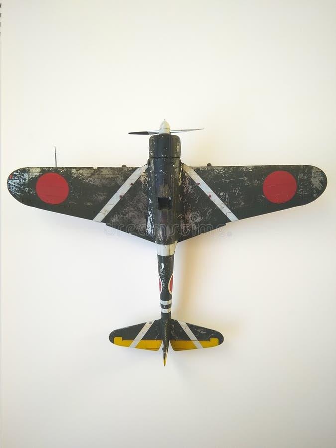 Lutador do modelo de Nakajima Ki-43 Hayabusa fotografia de stock