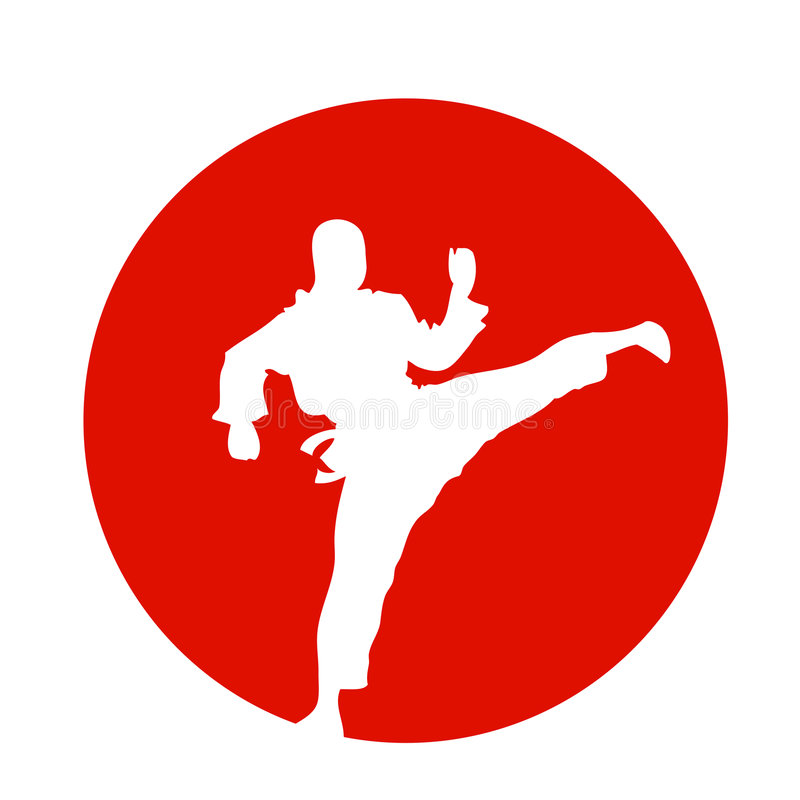 Lutador japonês do fu do kung ilustração royalty free