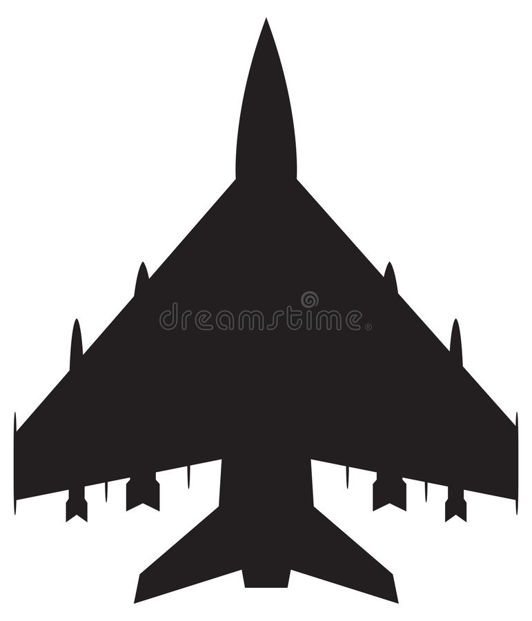 Lutador Jet Silhouette ilustração do vetor
