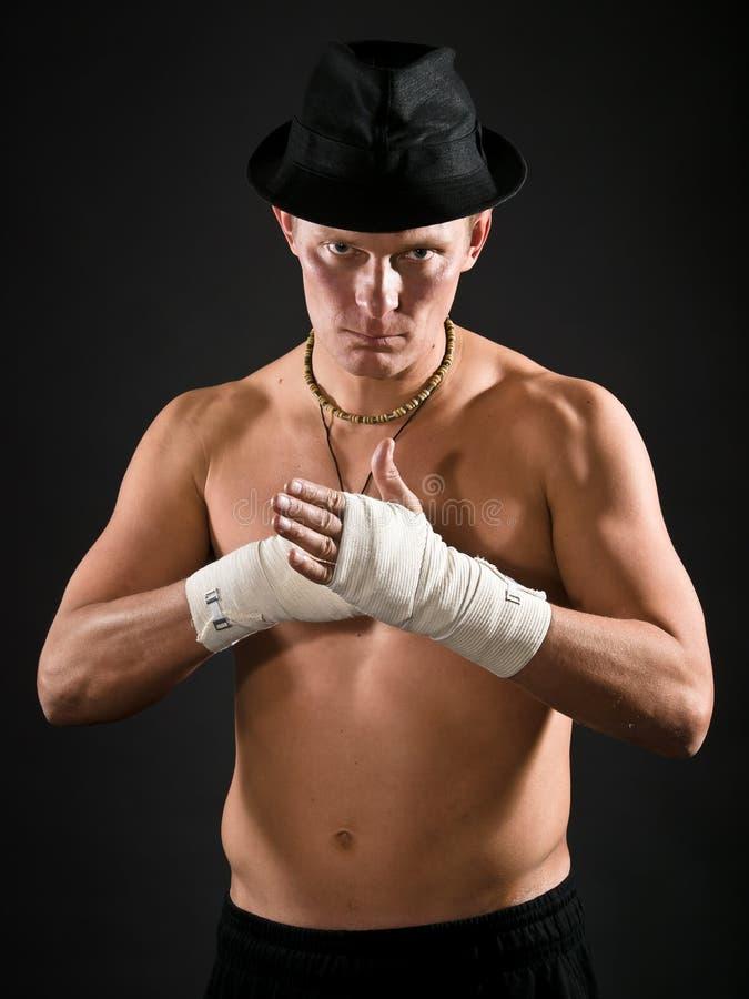 lutador severo imagens de stock