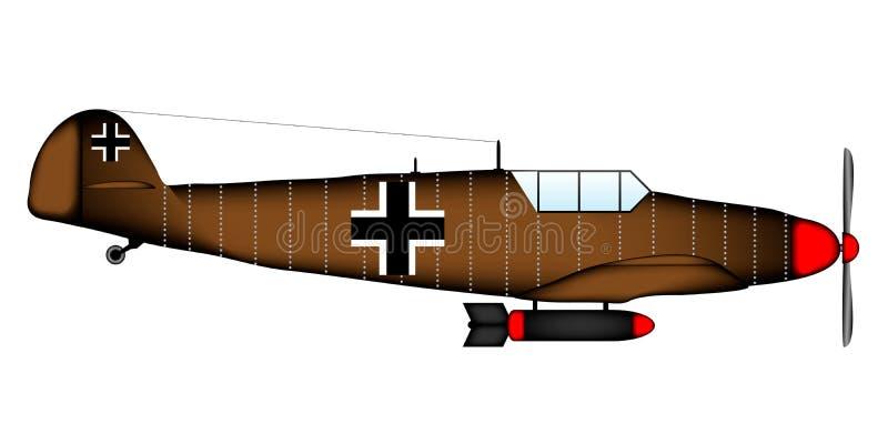 Lutador WW2 alemão ilustração do vetor