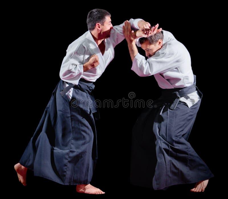 Lutadores das artes marciais isolados imagem de stock royalty free