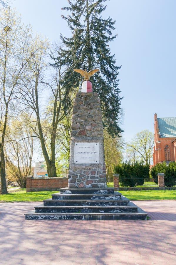 Lutadores de comemoração do monumento para a liberdade da pátria foto de stock
