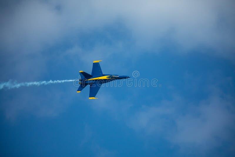 Lutadores dos anjos azuis EUA fotografia de stock royalty free