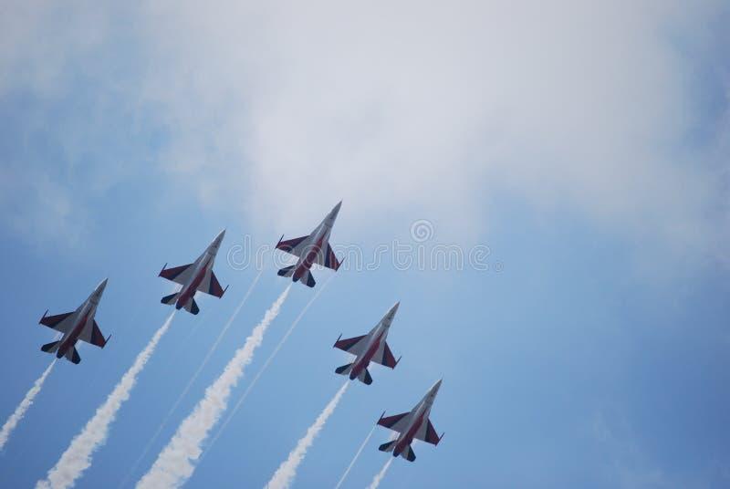 Lutadores F16 imagens de stock royalty free