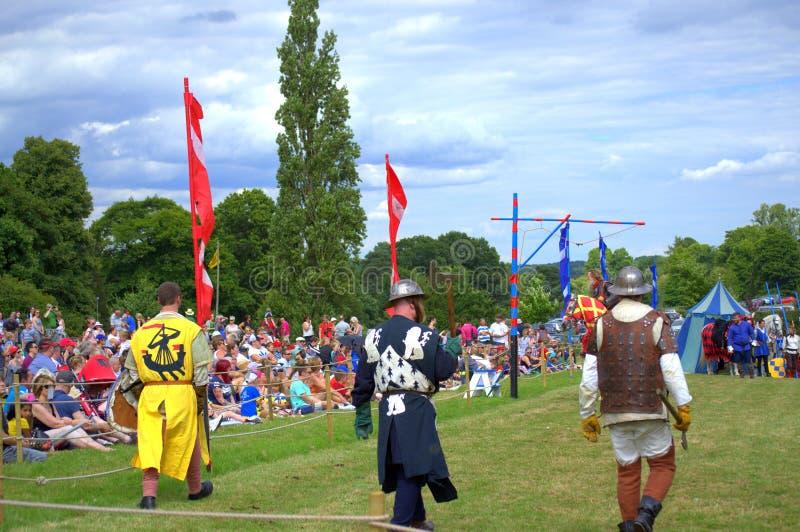 Lutadores medievais escoceses do pé fotos de stock royalty free