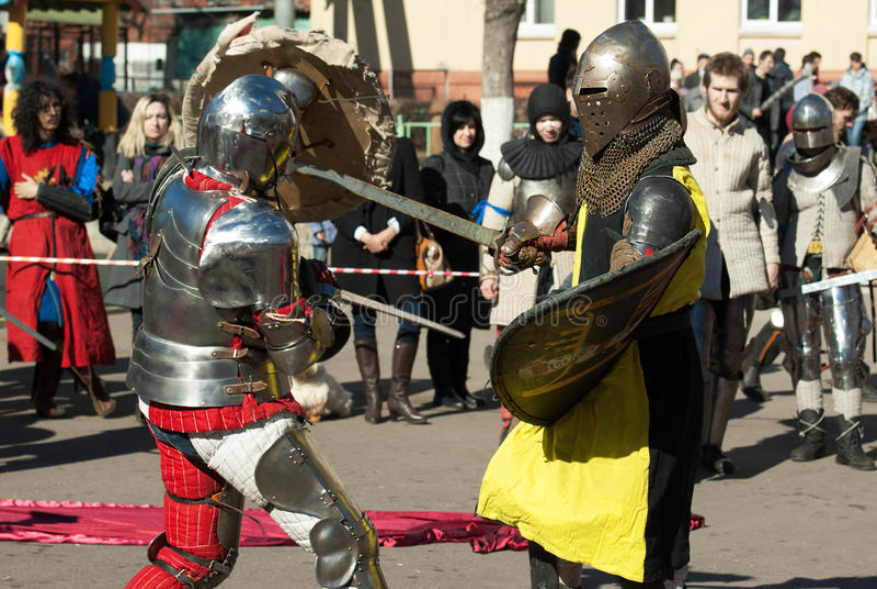 Lutas dos cavaleiros imagem de stock royalty free