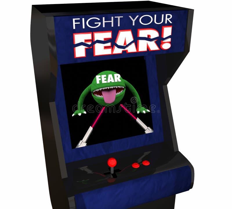 Lute sua coragem receosa Arcade Game da bravura da batida do medo ilustração do vetor