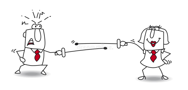 Lute um duelo ilustração do vetor