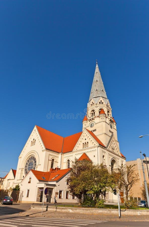 Luterański kościół święty Matthew w Łódzkim, Polska (1928) obrazy royalty free