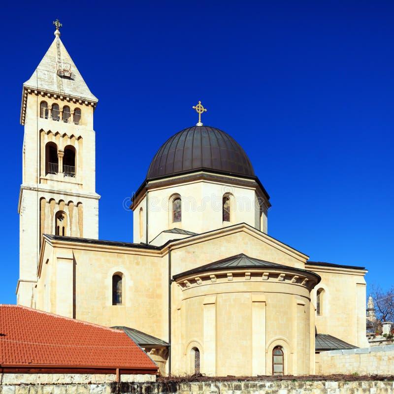 Luterański kościół Jerozolima odkupiciel, (1893-1898) fotografia stock