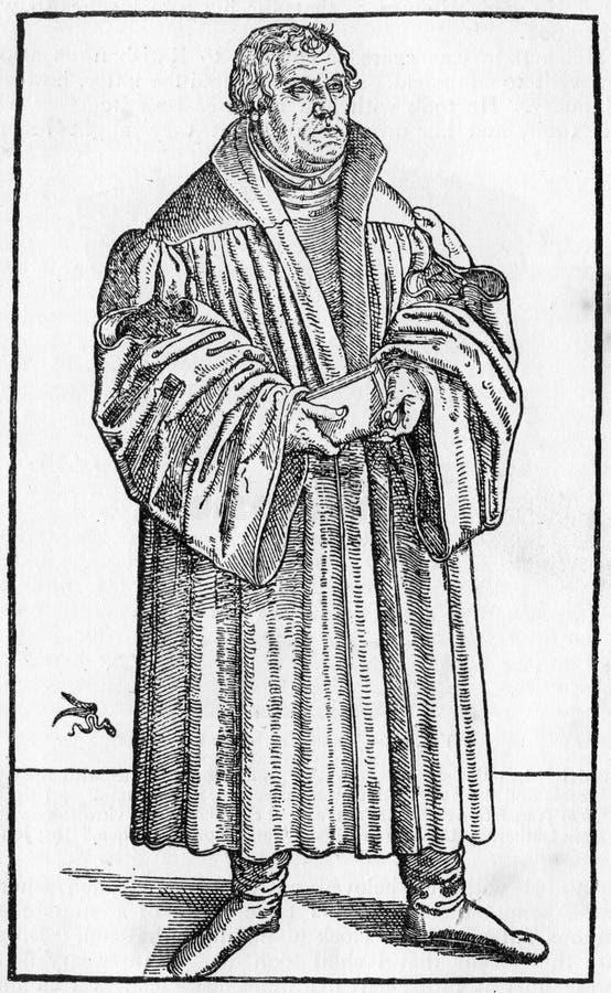 Lutero nel 1546 illustrazione vettoriale