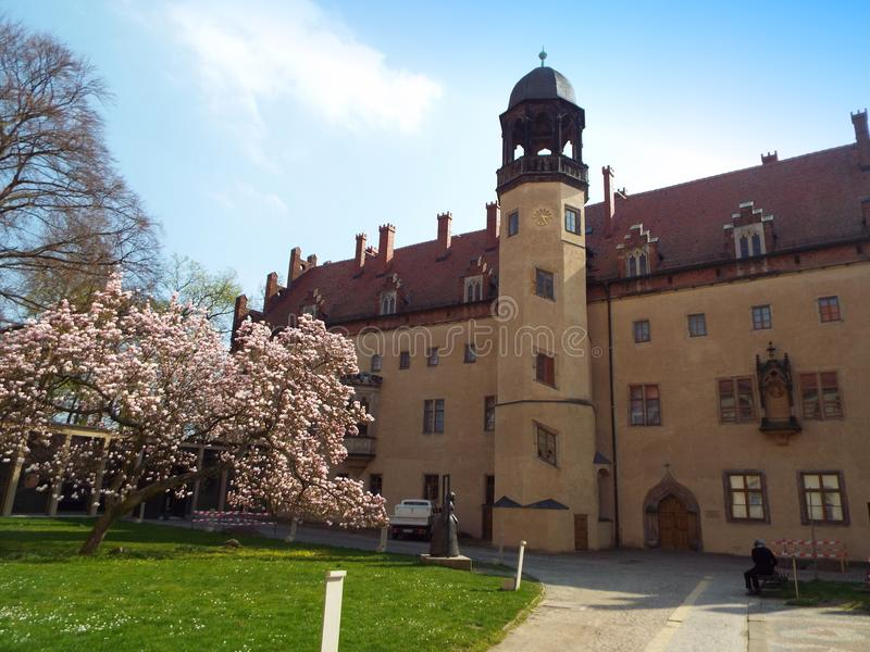 Luther-σπίτι όπου ο Martin Luther έζησε και δίδαξε, Wittenberg, Γερμανία 04 12 2016 στοκ εικόνες με δικαίωμα ελεύθερης χρήσης