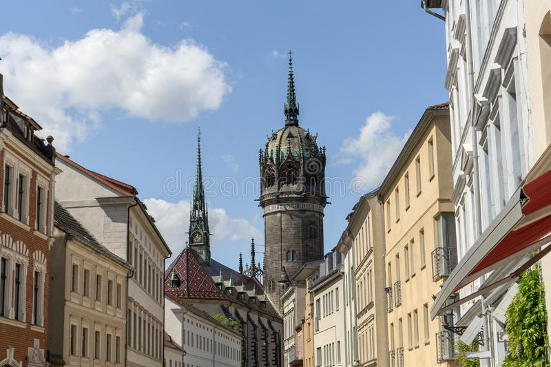 Luther city Wittenberg royalty free stock images