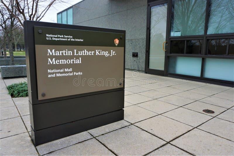 luther martin короля младшего мемориальный знак стоковые фотографии rf