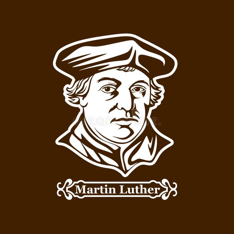 luther martin protestantism Ledare av den europeiska Reformationen royaltyfri illustrationer