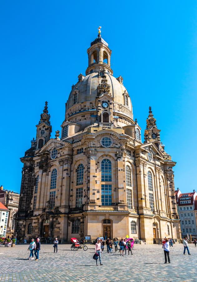 Lutheran church Frauenkirche in Dresden, Germany royalty free stock photos
