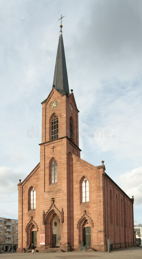 Lutheran Church of Peace, Kehl, Germany. (1874 royalty free stock photography