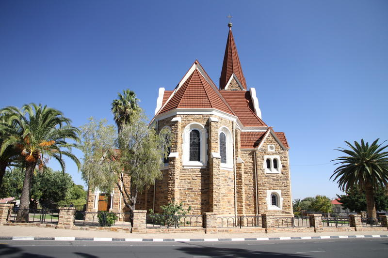 Lutheran church in Windhoek royalty free stock images