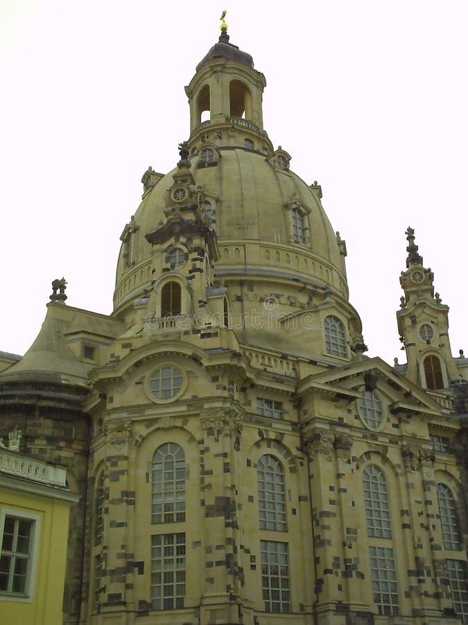 Lutheran kerk Dresden Frauenkirche in Dresden, Duitsland royalty-vrije stock fotografie