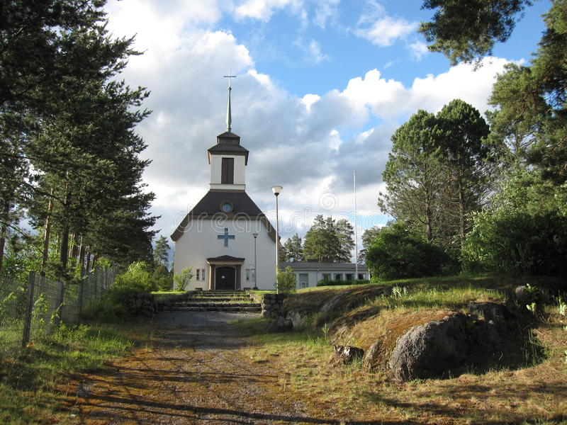 Lutheran kerk in Finland royalty-vrije stock afbeelding