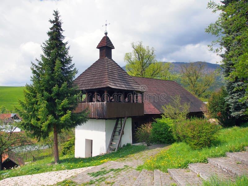 Lutheran kerk in Istebne-dorp, Slowakije stock foto