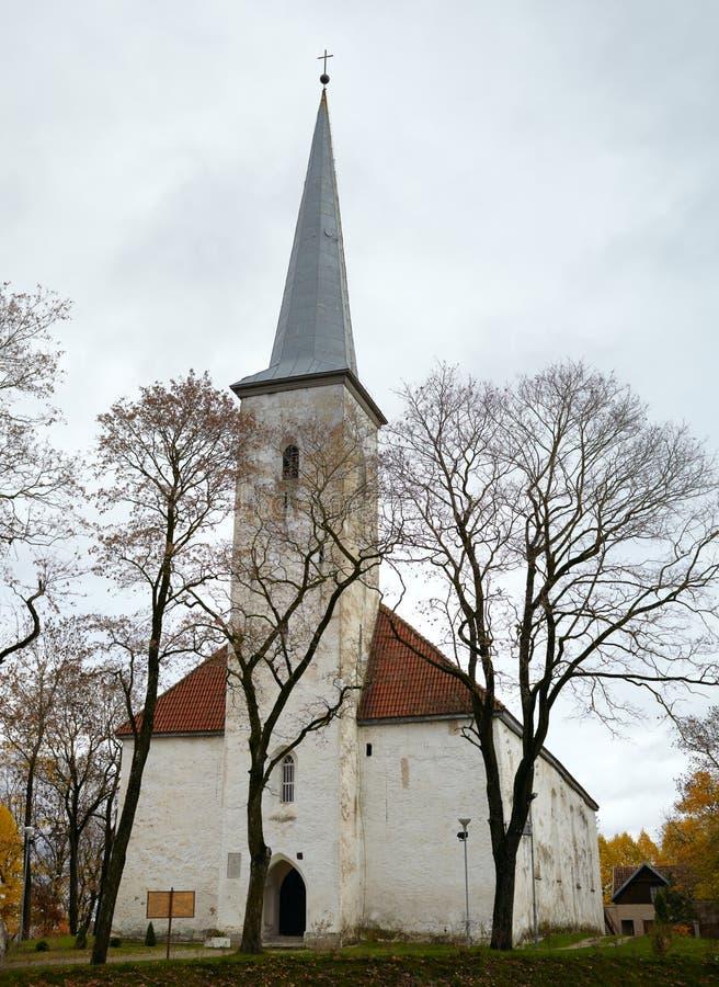 Lutheran kerk, Johvi, Estland. stock foto's