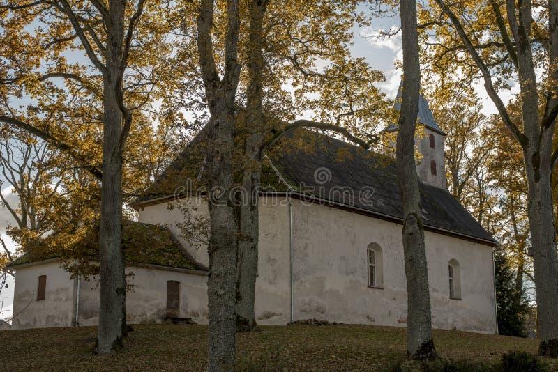 Lutheran Kerk in Malpils, Letland royalty-vrije stock afbeeldingen