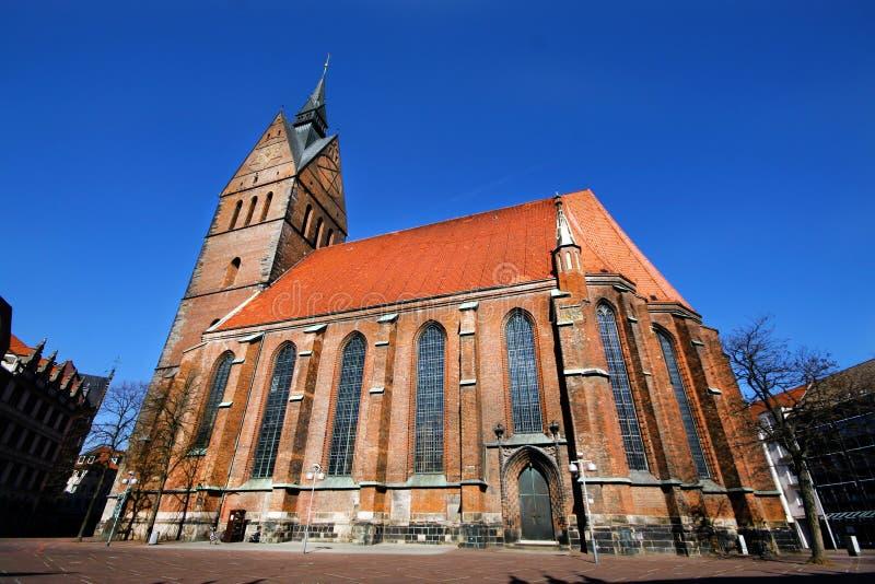 Lutheran kerk Marktkirche St Georgii et Jacobi in Hanover Duitsland stock afbeelding