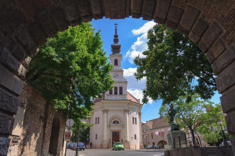 Lutheran Kerk van Budavà ¡ r - Boedapest royalty-vrije stock afbeelding