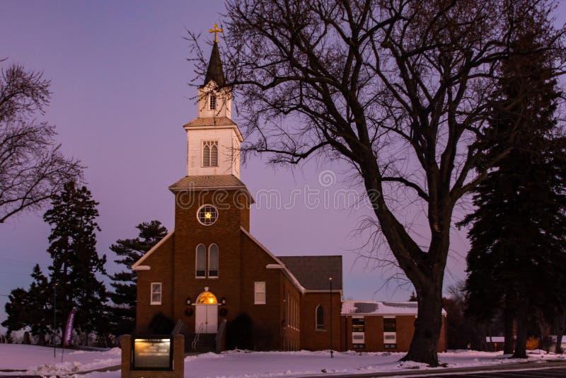 Lutheran Kerk van Cambridge stock fotografie