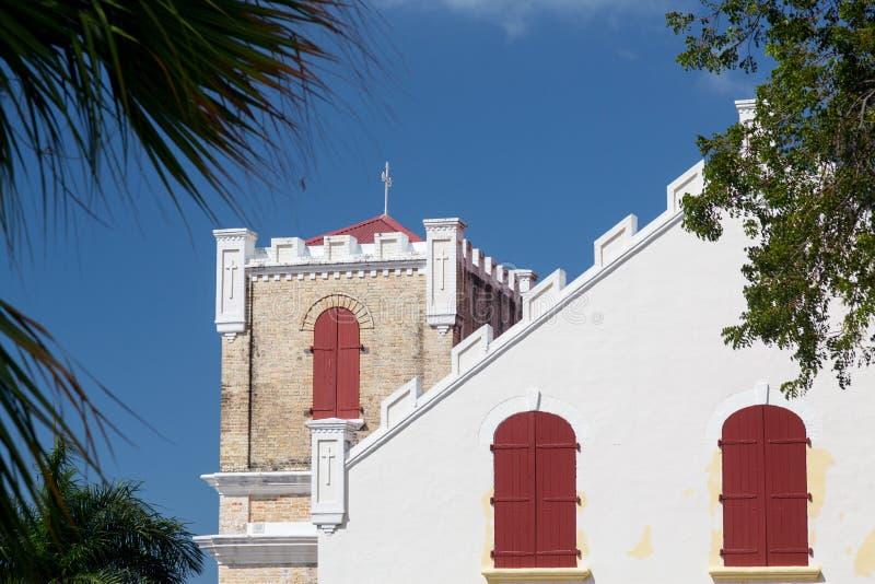 Lutheran kerk van Frederick in Charlotte Amalie royalty-vrije stock foto's