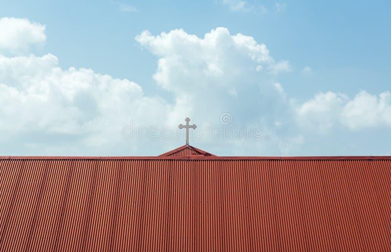 Lutheran kerk van Frederick in Charlotte Amalie stock foto